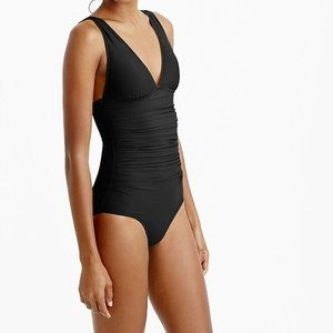 J. Crew DD-cup Ruched One-piece Swimsuit Black
